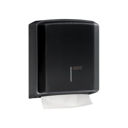 Dispenser prosoape hartie otel negru Mediclinics DT2106B
