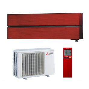 Sistem complet aparat de aer conditionat Mitsubishi Electric MSZ-LN25VGR-MUZ-LN25VGHZ Inverter 9000 BTU Ruby Red