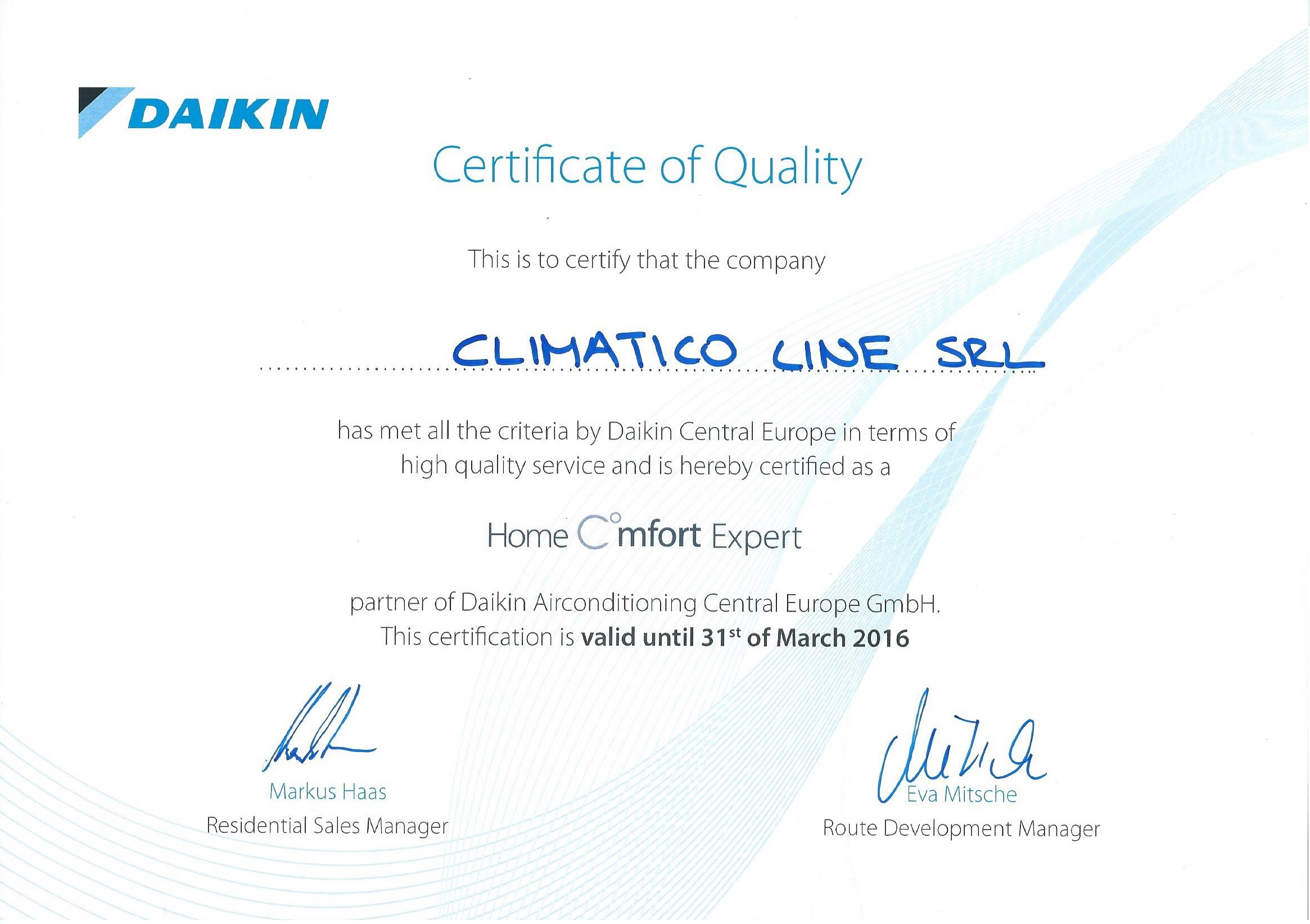 Climatico Daikin Home Comfort Expert