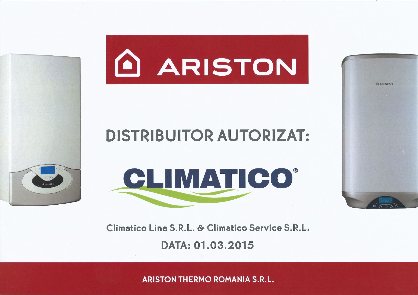 Climatico distribuitor autorizat Ariston
