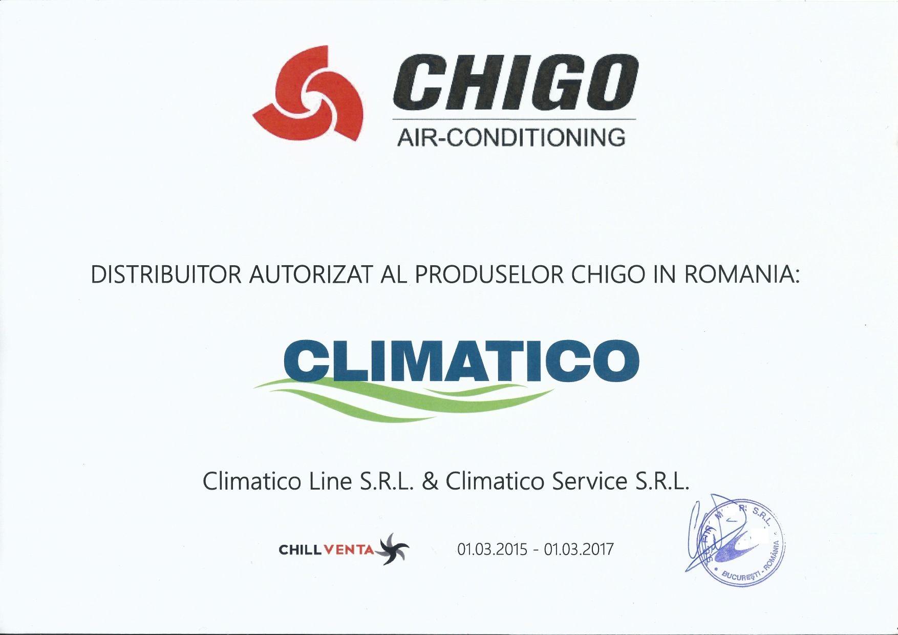 Distribuitor oficial aer conditionat Chigo