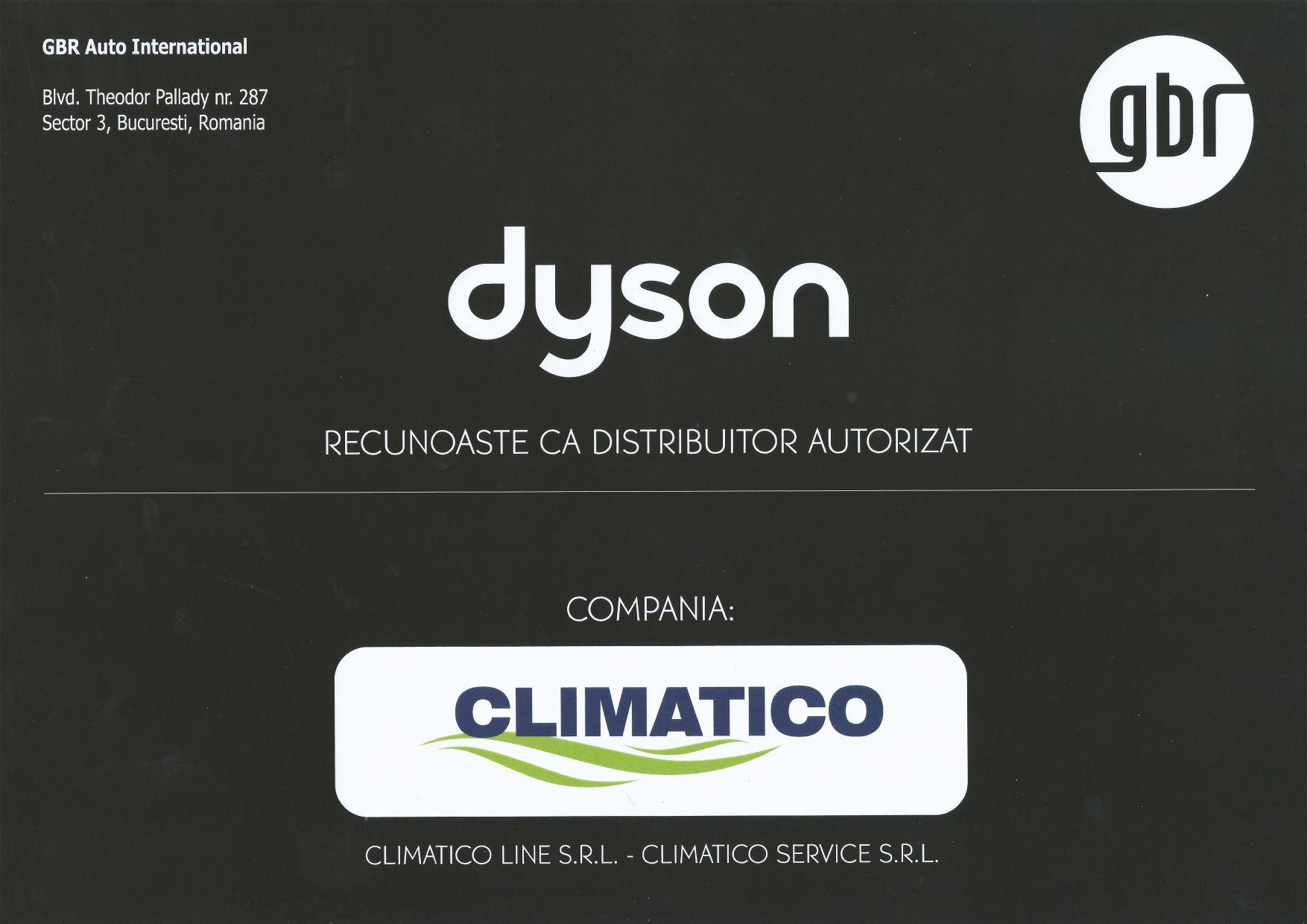Climatico distibutior oficial Dyson in Romania