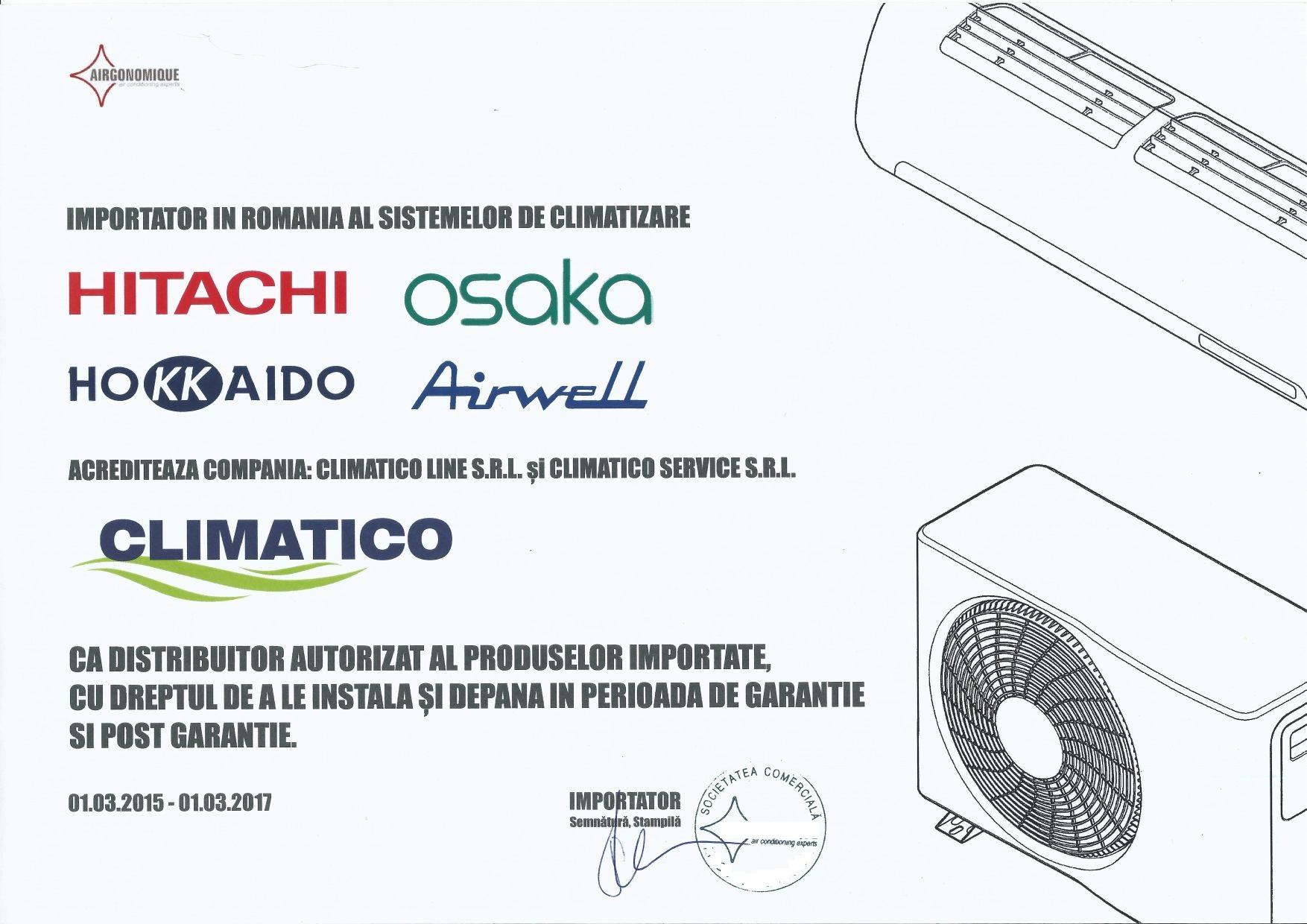 Aer conditionat Hitachi Airwell Osaka Hokkaido