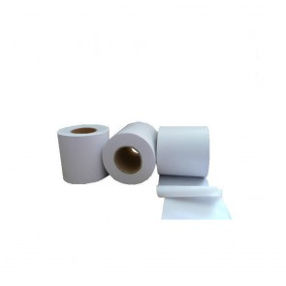 Banda matisat PVC alba neadeziva 80mm x 40m