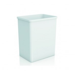 Cos de gunoi fara capac ABS alb Genwec GW06.08.01.00