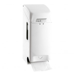 Dispenser hartie igienica otel alb Mediclinics PR0784