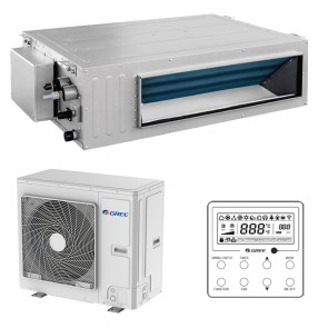 Split Aparat de aer conditionat tip duct Gree Ultra Thin R32 GUD100PH-A-T-GUD100W-NhA-T Inverter 34000 BTU