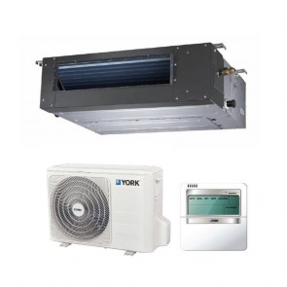Sistem aparat de aer conditionat tip duct York YEKE12BXEEBM-WX-YUKE12BYEEBMO-X DC Inverter 12000 BTU
