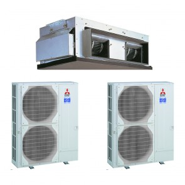 Sistem complet Aer conditionat tip duct Mitsubishi Electric Standard Inverter PEA-RP500GAQ-2xPUHZ-P250YHA3 150000 BTU