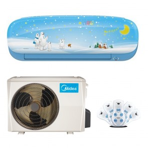 Sistem complet aparat de aer conditionat Midea Kids Blue MS11P-12HRFN1-B Full DC Inverter 12000 BTU