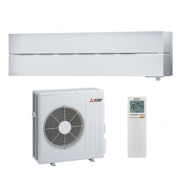 Sistem complet aparat de aer conditionat Mitsubishi Electric MSZ-LN60VGW-MUZ-LN60VG Inverter 24000 BTU Solid White