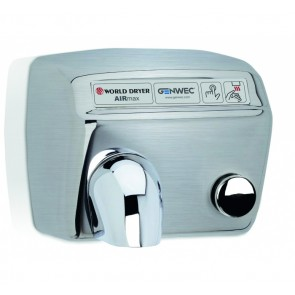 Uscator de maini World Dryer AIRMAX Argintiu satinat 2300 W