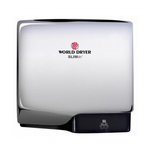 Uscator de maini World Dryer SLIMDRI Argintiu lucios 950 W