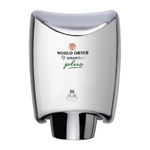 Uscator de maini World Dryer SMARTDRI PLUS Argintiu lucios 1200 W