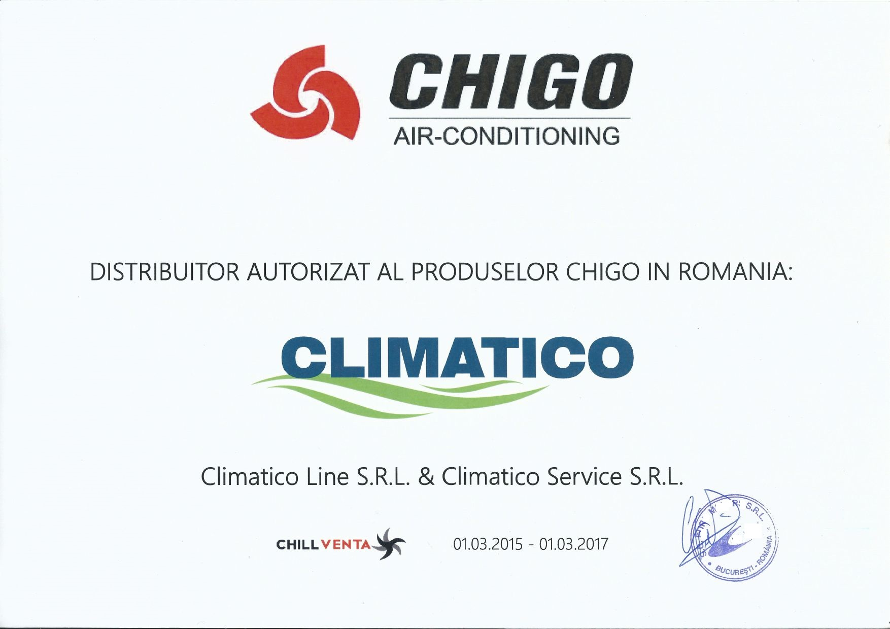 Distribuitor oficial aer conditionat Chigo