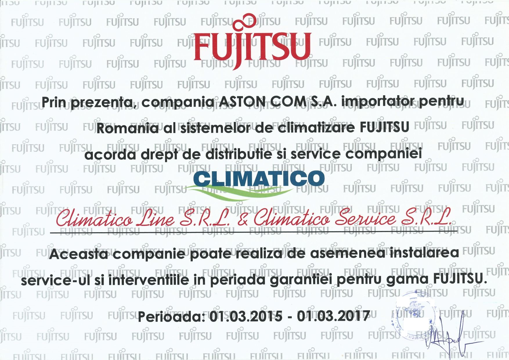 Distribuitor aer conditionat Fujitsu