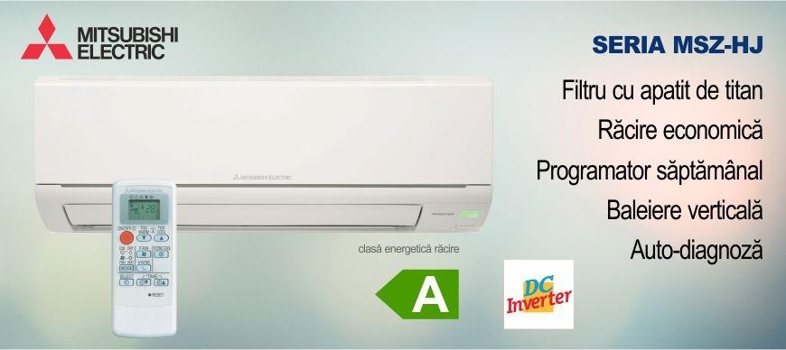 Promotie aer conditionat Mitsubishi Electric seria HJ DC Inverter Climatico