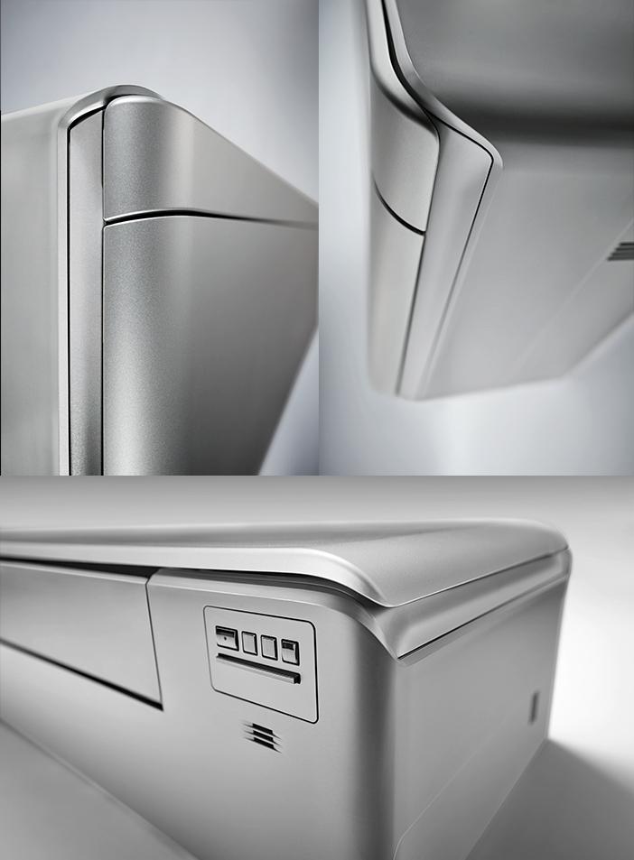 Daikin Stylish FTXA-BS+RXA-A Silver - vedere laterala, de sus si de jos