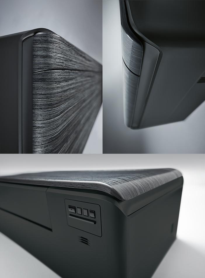 Daikin Stylish FTXA-RXA Blackwood - vedere laterala, de sus si de jos