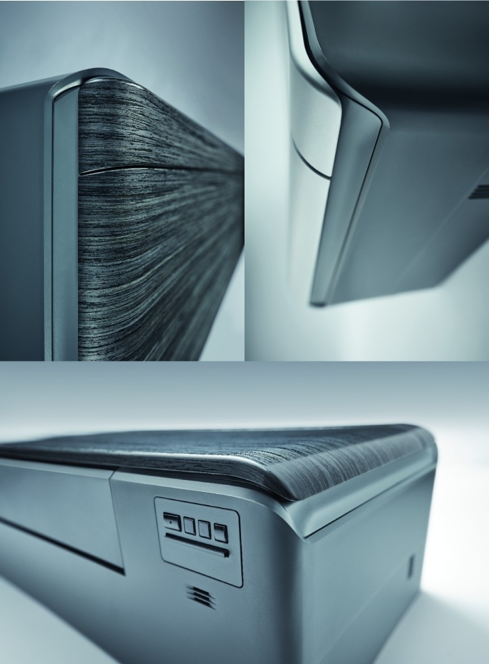 Daikin Stylish FTXA-RXA Black - vedere laterala, de sus si de jos