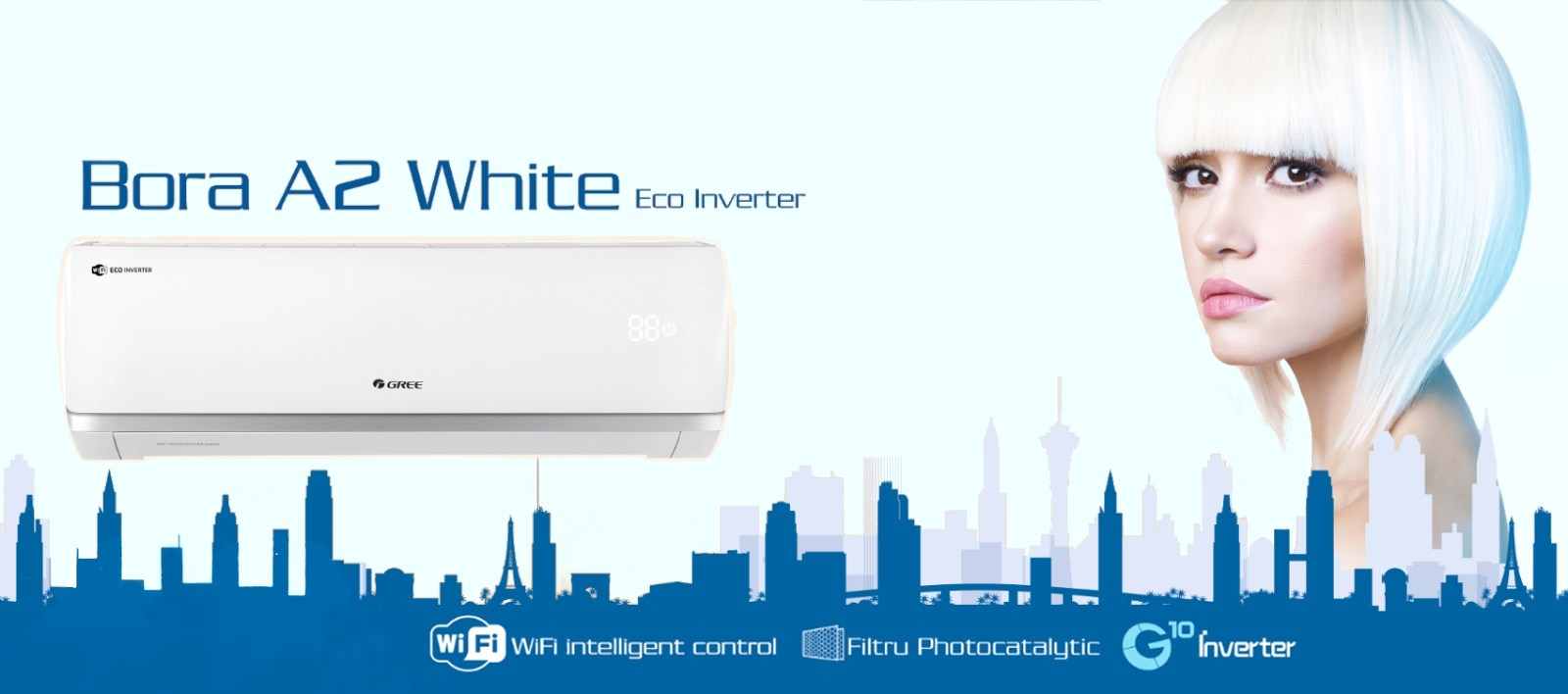 Gree Bora A2 White - aer conditionat