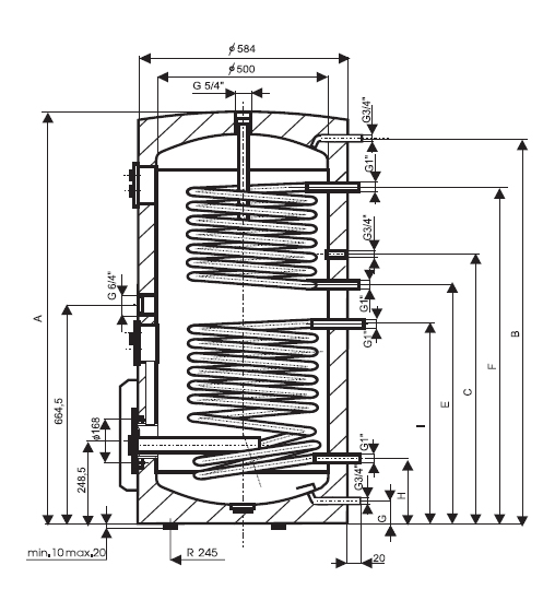 Schita boiler electric Drazice