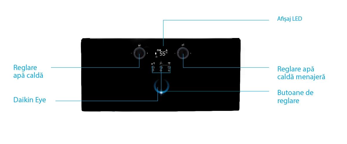 Interfață modernă și tehnologie avansată - Centrala termica in condensatie Daikin D2CND028A1A pentru preparare ACM si incalzire 28 kW