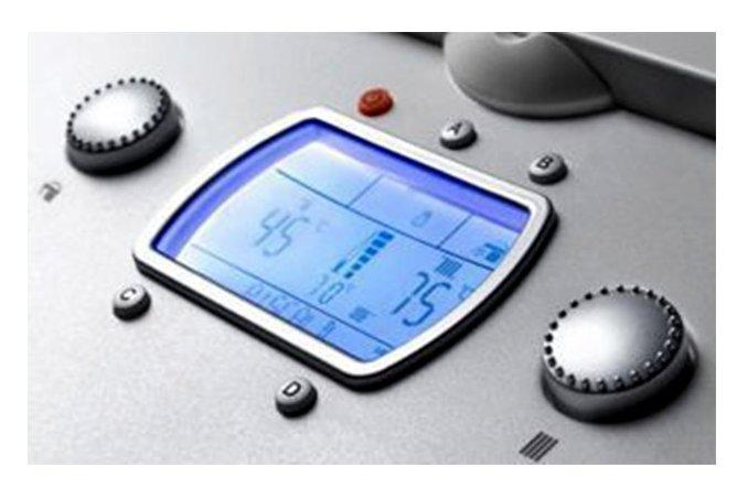 Centrala termica in condensatie cu boiler incorporat Immergas Victrix Zeus Superior - display panou comanda
