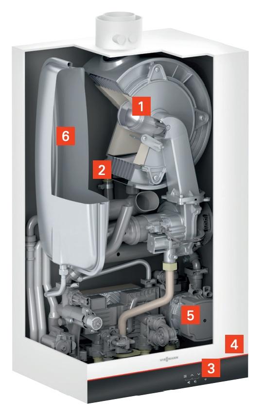 Sectiune Centrala termica in condensatie cu touchscreen Viessmann Vitodens 050-W tip B0KA