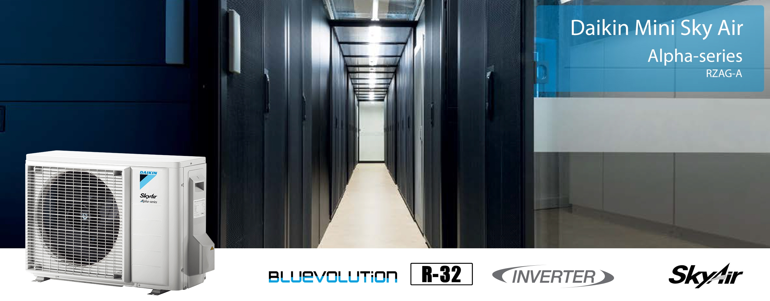 Banner Aparat de aer conditionat Daikin SkyAir Bluevolution camere server FTXM60N-RZAG50A Inverter 18000 BTU