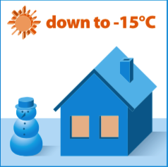 Incalzire la -15 grade Celsius