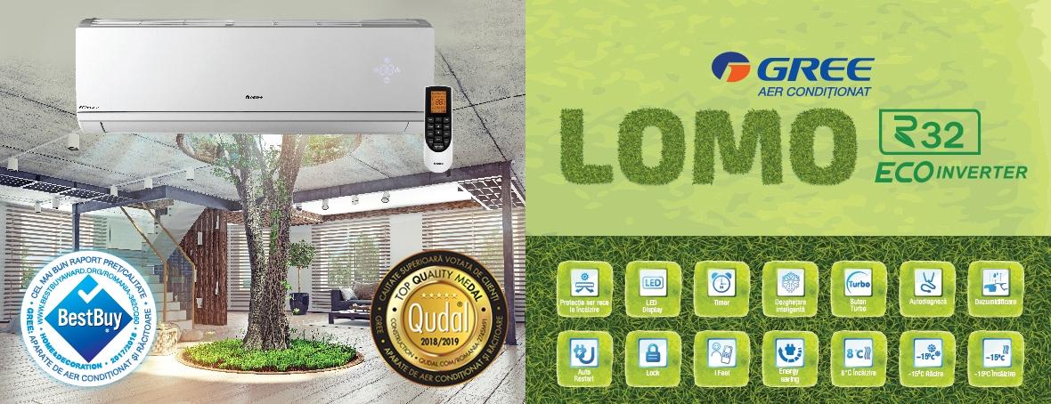 Aparat de aer conditionat Gree Lomo R32 GWH09QB-K6DNB8l Inverter 9000 BTU