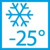 Funcţionare garantată până la -25 °C