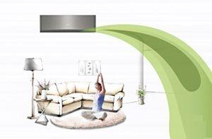 Flux de aer - Aparat de aer conditionat Whirlpool R32 SPIW 318 L Inverter 18000 BTU